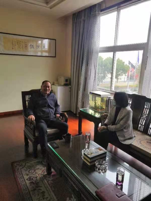 白峰街道党工委领导汪静艳到公司走访,调研公司防疫和复工复产情况